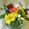 Asztali csokor friss virágból