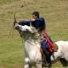 A lovas íjászat gyakorlása